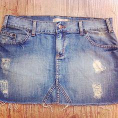 Sainha  Jeans Aresta #gtips #saiajeans #garimperia #brechó #comprinhas #online #jeans #love