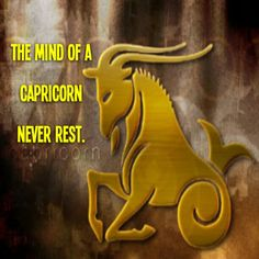 The mind of a  Capricorn never rest!
