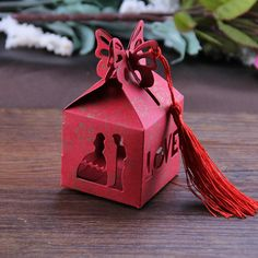 Wedding Favor Box Laser Cut Chinese Traditional by StickerClub, $28.90