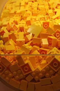 Whimsical lego: Bricks sold by the weight in the store at Toronto's Legoland