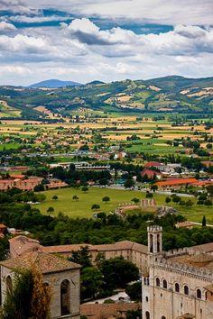 View of Gubbio countryside, province of Perugia , Umbria region, Italy