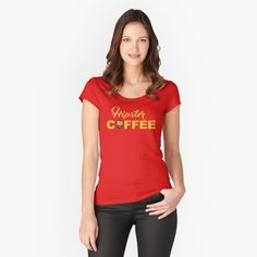 Fitted Scoop T-Shirt casual for work or school spring chic outfit classy. Get my art printed on awesome products. Support me at Redbubble Twin Peaks, My T Shirt, V Neck T Shirt, T Shirt Custom, Tshirt Colors, Chiffon Tops, Female Models, Classic T Shirts, Shirt Designs