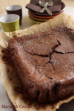 Chocolate cake and mascarpone by Cyril Lignac - Mmmm . - Chocolate cake and mascarpone by Cyril Lignac - Mmmm . No Cook Desserts, Delicious Desserts, Yummy Food, Sweet Recipes, Cake Recipes, Dessert Recipes, Chocolate Desserts, Cake Chocolate, Love Food