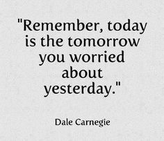 Remember, today is...