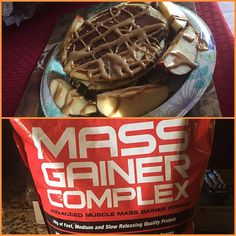 My protein pancakes are back: Mass gainer style with GNC Mass Gainer Complex. Vanilla with peanut butter drizzle  #food #foodporn #gnc #nutrition #fitness #cheat #cheatmeal #pancakes #gym #fitness #bodybuilding #physique #gains #lift #eat #sleep #happy #humble #hungry #peanutbutter #sex #thesepancakesknockyouout #fat #life #takeswaytoomuchtime #mymorninggone #blessed by roman.elliott