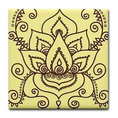 """""""lotus henna tattoo - symbolizes femininity and fertility"""" I'd love to have this! I love the style of henna tattoos. Simple and beautiful."""