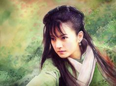Zhao Wei's portrait by Tigermyuou.  Amazing watercolor.    EDIT: The picture is based in Treasure Venture (Ancient chinese series)