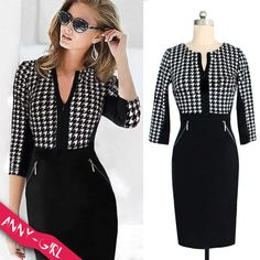 ✿ $16.92!!! Fashion Women Elegant Patchwork Formal Party Dress ✿ Product link:  http://www.aliexpress.com/store/product/2014-Fashion-Women-Autumn-Work-Elegant-Patchwork-Stretch-Tunic-Business-Casual-Office-Formal-Party-Pencil-Sheath/1524204_32247089705.html