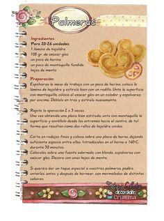 Tartas, Galletas Decoradas y Cupcakes: Palmeras Mexican Sweet Breads, Mexican Bread, Mexican Food Recipes, Sweet Recipes, Flour Recipes, Pastry Recipes, Cake Recipes, Dessert Recipes, Cooking Recipes