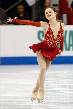 sasha cohen - Google Search -Red Figure Skating / Ice Skating dress inspiration for Sk8 Gr8 Designs.