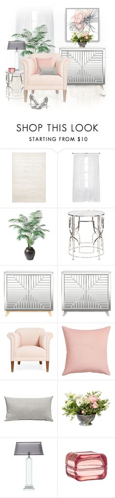 """""""Mirrored Furniture"""" by diane-hansen ❤ liked on Polyvore featuring interior, interiors, interior design, home, home decor, interior decorating, Jaipur, Ethan Allen, Worlds Away and CB2"""