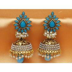 Aashiqui 2 earrings,pretty polki with pearls jhumka