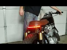 For Scooters and More! 1503 Motorcycles Carbon Fiber 4 Long Set of 2 Universal LED Turn Signal Lights Mopeds Minis