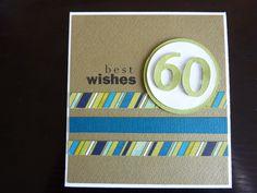 Male birthday card - 60