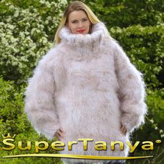 10 STRANDS Mega thick and fuzzy hand knit mohair by supertanya