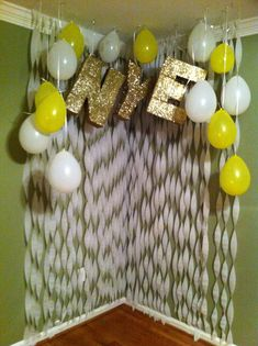 Priscilla ! I like the  letters in glitter with out the balloons and streamers ! Maybe your name or a big 30