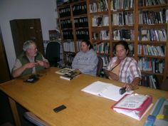 Inside the NPS Alcatraz Library in Building 64.  Ranger Craig interviewing my brother Ed Willie and sister Lisa KcKay regarding their experience during the Indian Occupation. (2010)