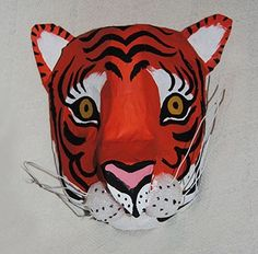 65 Days of Summer Activity: Milk Jug Masks Animal Projects, Art Projects, Group Projects, Milk Jug Crafts, Plastic Bottle Crafts, Plastic Bottles, Tiger Mask, Safari Theme Party, Animal Masks