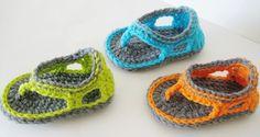Crochet Sandals Pattern, Flip Flop Sandals Pattern for Baby Boys, Trekkers. $4.99, via Etsy.