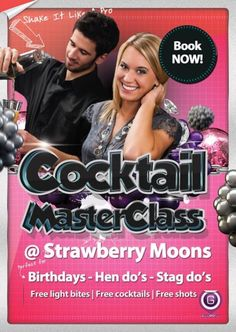 Cocktail Masterclass at Strawberry Moons at Strawberry Moons
