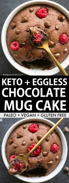Keto Chocolate Mug Cake made with almond flour and SO good- NO eggs, NO grains and NO coconut needed! Moist, gooey and ready in 1 minute! # mug cake Coconut Flour Mug Cake, Almond Flour Chocolate Cake, Microwave Chocolate Mug Cake, Chocolate Chip Mug Cake, Nutella Mug Cake, Peanut Butter Mug Cakes, Mug Cake Microwave, Keto Chocolate Chips, Chocolate Mug Cakes