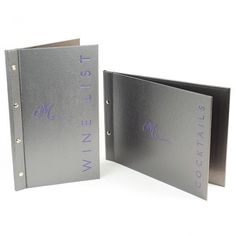 Bling MetalX Menu Covers. The Smart Marketing Group - Hospitality. Industrial Bistro themed menu folders and displays by Smart Hospitality.
