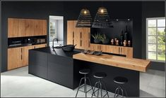 The 37 best black kitchens kitchen trends you need to see 7 Kitchen Room Design, Luxury Kitchen Design, Kitchen Cabinet Design, Home Decor Kitchen, Interior Design Kitchen, Kitchen Furniture, Kitchen Designs, Kitchen Ideas, Kitchen Inspiration