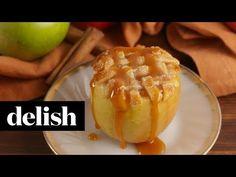 (71) Apple Pie Baked Apples | Delish - YouTube