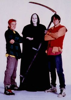 Bill and Ted's Bogus Journey. a good movie but didn't have the same fun as the… 90s Movies, Famous Movies, Comedy Movies, Film Movie, Good Movies, Awesome Movies, River Phoenix Keanu Reeves, Angelina Jolie Movies, Alex Winter