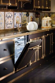 unique kitchen cabinet ideas wooden luxurious vintage style kitchen in coffee and gold colors by restart cucine digsdigs nice 101 best unique kitchens images on pinterest ideas