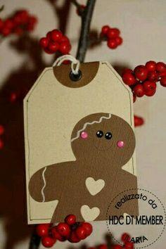 Gingerbread man tag