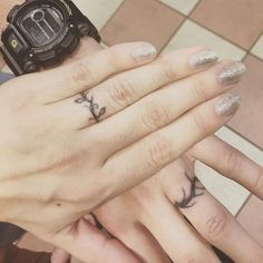 Wedding Ring Tattoos / http://www.himisspuff.com/wedding-band-ring-tattoos/2/