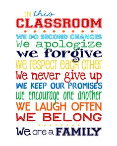 "In this Classroom We... 11x14"" print - PERFECT TEACHER GIFT"