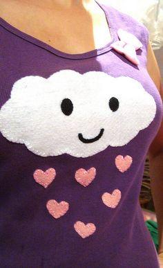 Camiseta com aplique de feltro feita por mim! | Flickr – Compartilhamento de fotos!