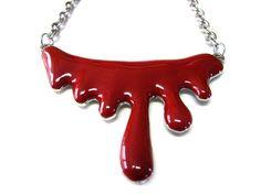 Blood Splatter Necklace