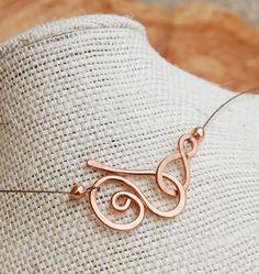 Oxidado. Collar de cobre. Minimalista. por Karismabykarajewelry                                                                                                                                                                                 Más
