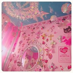 Cheap Home Decoration Stores Room Ideas Bedroom, Girls Bedroom, Bedroom Decor, Pastel Room, Pink Room, Dream Rooms, Dream Bedroom, Kawaii Bedroom, Cute Room Ideas
