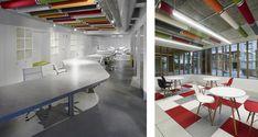 Díaz y Díaz Arquitectos. Interior design - Concrete - Color ceiling - Coworking space. Architecture Coruña.