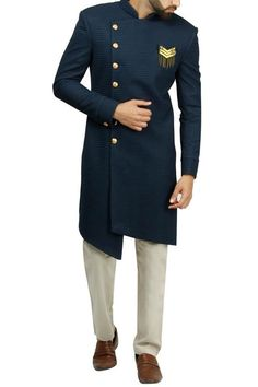 Designer Menswear – Shop Designer clothing for men, buy ethnic wear for men online, buy designer menswear online, Men's designer kurta pyjama online, carma online shops for designer men's clothing. Mens Indian Wear, Mens Ethnic Wear, Indian Groom Wear, Indian Men Fashion, Kurta Men, Mens Sherwani, Sherwani Groom, Wedding Dresses Men Indian, Wedding Dress Men