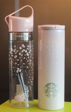 Korea Starbucks 16 Cherry blossom Troy Tumbler 473m Clay water bottle 591ml SET #Starbucks