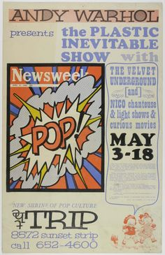 """VELVET UNDERGROUND - 1966 """"The Trip"""" Concert Poster From Sterling Morrison Collection, Exhibited at Andy Warhol Museum"""