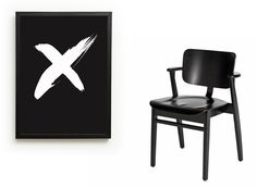 Kiss me right here poster, One must dash / Domus chair, Artek