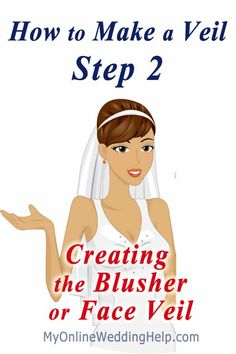 Last time we measured and cut the tulle. In today& Step 2 video, I explain tips for adjusting the fullness and length of your blusher, so you end up with Veil Diy, Diy Wedding Veil, Wedding Crafts, Wedding Ideas, Wedding Hair, Wedding Stuff, Wedding Dresses, Temple Wedding, Camo Wedding