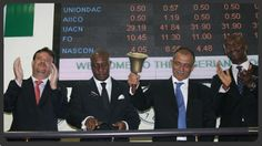 Ringing of the Closing Bell at the NSE in LAGOS,Nigeria