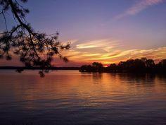 sunset over Watts Bar Lake, TN