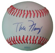 SD Padres Tim Flannery signed Rawlings ROLB leather baseball w/ proof photo.  Proof photo of Tim signing will be included with your purchase along with a COA issued from Southwestconnection-Memorabilia, guaranteeing the item to pass authentication services from PSA/DNA or JSA. Free USPS shipping. www.AutographedwithProof.com is your one stop for autographed collectibles from San Diego Sports teams. Check back with us often, as we are always obtaining new items.