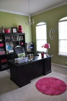 "if anybody knows me, this is clearly very much like me!  The Green, Black, hot pink...it even has a ""C"" on the wall!"