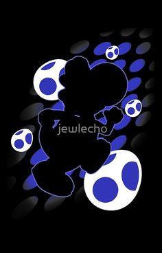 Super Smash Bros. Blue Yoshi Silhouette