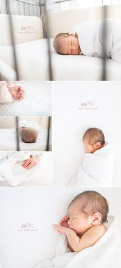 Cute as a button in her crib, all the tiny details of a 7 day old baby girl.   Lifestyle Newborn Photography by CK Design & Photo www.ckdesign.net
