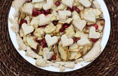 Cranberry Apple Pie.  Perfect dessert for Valentine's Day
